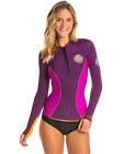 Внешний вид - Rip Curl G Bomb 1mm Long Sleeve Front Zip Jacket  Womens Spring Wetsuit PUR, GRY