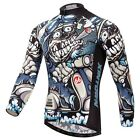 Hot Outdoor Cycling Clothing Mens Long sleeve Bike Bicycle cycling jersey Tops