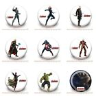 9-45PCS Avengers Buttons Round Pins Brooch Badges 30mm for Kids Party Best Gift