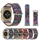 Retro Flower Style Leather Watch Band Strap Accessory For Apple Watch iWatch New