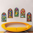 Zelda Stained Glass Wall Decal Zelda Video Game Room Mural Sticker Designs s75