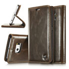 Luxury Patent Leather Magnetic Card Wallet Folio Case For Samsung Galaxy Phones