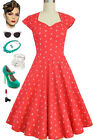 PLUS SIZE RED Anchors Soubrette Brunette 50s Style Sweetheart Pinup Dress