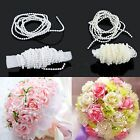 New White/Beige 5M Acrylic Pearl Bead Chain Line Party Table Wedding Décor D2016