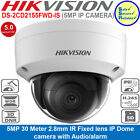 HIKVISION DS-2CD2155FWD-IS 5MP HD1080P Vandal PoE Audio/alarm IO IP Dome Camera