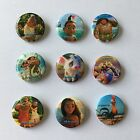9PCS/SET Moana Tin Buttons Round Pins Brooch Badges 30mm as Kids Party Best Gift