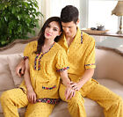 Cozy Yellow 100% Cotton Lovers 2PCs Casual Sleepwear/ Pajama Sets M/L/XL/2XL/3XL