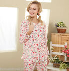 Lovely 100% Cotton Round Neck New 2pcs Female's Sleepwear Pajama sets M/L/XL/2XL