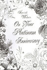 "on your PLATINUM wedding anniversary card 70th / 70 years - large 9"" X 6"" card"