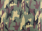 CAMOUFLAGE ARMY DPM PATTERN COTTON FABRIC MATERIAL. 118cm x 100cm