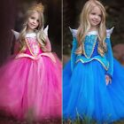 Girl Sleeping Beauty Princess Aurora Dress Costume Party Dresses Cosplay Age 3-7