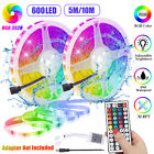 Waterproof 16.4/32.8ft LED RGB SMD Strip Light Flexible 12V Remote TV Party Bar