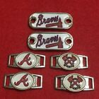 2 ~ Atlanta Braves MLB Paracord Charms Oval or Mini Dog Tag shoelace charms on Ebay