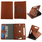 "'Universal Case for Toshiba Thrive 7"" Tab PU Leather Folio Stand ID Slots Cover"