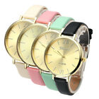 Women Roman Numerals Analogue Thin PU Leather Band Quartz Dress Wrist Watch US