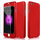 Hybrid 360 Front Back Shockproof Case & Tempered Glass For Apple iPhone 5/6/7