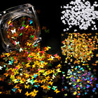 Nail Art Holographic Sequins Glitter Heart Moon Star Butterfly Colorful Flakes
