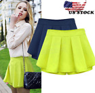 US STOCK  Fashion Women  s Teen Casual Chiffon High Waist Min Skirt Shorts 099a
