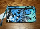 NWT Vera Bradley FRONT ZIP WRISTLET wallet holds iPhone 6 iPhone 8 w case