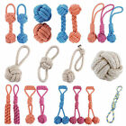 Pet Dog Cat Puppy Cotton Braided Bone Ball Rope Toys Tug Chew Knots Play Fun Toy