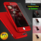 OEM New 360° Protective Hard Case+Tempered Glass For Apple iPhone 6/6S 7 Plus 6P