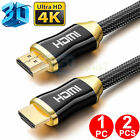 2X 1X 5ft Premium Ultra HD HDMI Cable v2.0 High Speed Ethernet HDTV 2160p 4K 3D