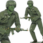 Toy Soldier Costume Medium Large Funny Mens Plastic Army Man Fancy Dress Smiffys