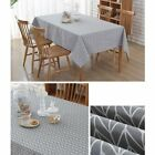 3QMart Rectangle Dining Tablecloth Geometric Print Table Cloth Cover for Kitchen