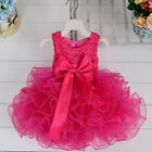 Neborn Baby Girls Flower Party Princess Prom Pageant Wedding Tutu Dress Clothes