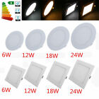 Dimmable Epistar Recessed LED Panel Light 6W 12W 15W 18W 24W Ceiling Down Lights фото