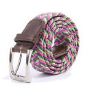 Gelante Canvas Elastic Fabric Woven Stretch Braided Belts