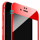 4D Full Cover 9H Hartglas Rot für Apple iPhone 7 6 360° Schutz Hülle Bumper Case