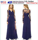 Sexy Lace Chiffon Evening  Party Cocktail Long Dress Bridesmaid Prom Gown 032a