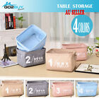 Linen Desk Table Storage Box Holder Jewelry Cosmetic Stationery Organizer