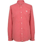 Pretty Green Shirt Long Sleeve Ebsworth Gingham Check - Red