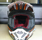 NEW PROGRIP 3090 COMPOSITE MOTORCYCLE HELMET KTM ORANGE ENDURO TRAIL TUAREG
