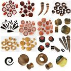 Wooden Ear Plug - Flesh Tunnel Stretcher Taper Expander Double Flared Wood