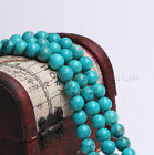Natural Stabilized Turquoise Gemstone Round Beads 15'' 2mm 3mm 4mm 6mm 8mm 10mm