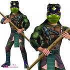 BOYS DONATELLO MUSCLE CHEST TEENAGE MUTANT NINJA TURTLE MOVIE FANCY DRESS