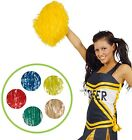 Girls Ladies Mens Set Of 2 Pom Poms Cheerleader Dance Stag Fancy Dress Accessory