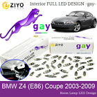 LED Interior Light Kit Deluxe Xenon White Lamps For BMW Z4 E86 Coupe Error Free