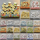 100Pcs Czech Crystal Rhinestone Wavy Rondelle Spacer Beads 5mm 6mm 8mm 10mm 12mm