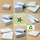 White Jewellery Gift Box Ring Necklace Bracelet Earings Watch Cream Present New