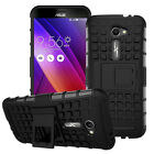 "Shockproof Rugged Slim Armor AT&T Asus Zenfone 2E ZE500CL 5.0"" Stand Case Cover"