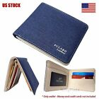 male coin purse - Mens Bifold Leather Wallet ID Card Holder Coin Pocket Thin Pulabo Purse