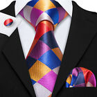 USA Seller 26 Colors Classic Red Green Silk Men's Tie Plaid Check Jacquard Woven