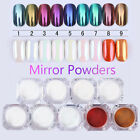 Nail Mirror Powder Dust Gold Blue Manicure Nail Art Glitter Chrome Pigment 1g
