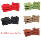 Set of 4 Chair Cushion Seat Pad Patio Outdoor Garden Dining Furniture With Ties