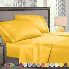 Sheets Pillowcases - Super Deluxe 1800 Count Hotel Quality 4 Piece Deep Pocket Bed Sheet Set