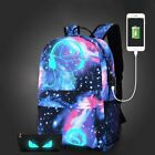 Fashion Anti-theft Laptop Notebook Backpack With USB Charging Port School Bag